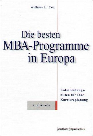 Die besten MBA-Programme in Europa