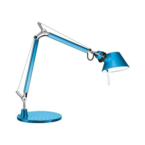 Artemide Toloméo Micro Tavolo - Lampe de table, turquoise laqué avec socle