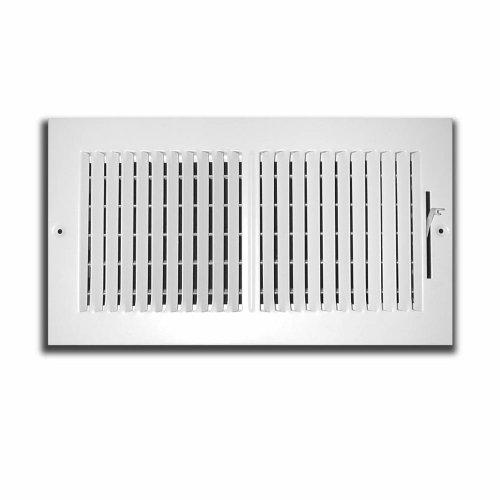 truaire 102M 14x 042-Wege-Supply 35,6cm x 4-Zoll Seitenwand oder Decke Register Abdeckgitter, weiß -