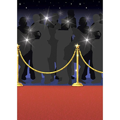 Outdoor-rot-teppich (15 m Wand-Deko Folie Roter Teppich Hollywood Wandbild Red Carpet Wanddeko Party Folien Bild Outdoor Mottoparty Wandfolie)