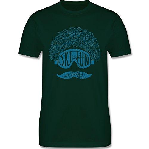 Après Ski - Ski Fun Moustache - Herren Premium T-Shirt Dunkelgrün