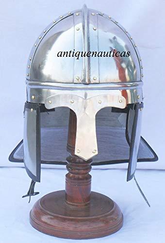 Surin Shakti Entreprises médiéval fabriqué à la Main Viking Style Casque de vélo en Acier Poli Armour