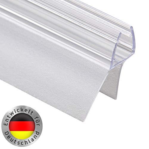Duschkabinen Dichtung für 6mm, 7mm und 8mm Glasdicke - Schwallschutz Gummilippe - Ersatzdichtung mit Verlängertem Innenlippe/Wasserabweiser für Duschwand ()
