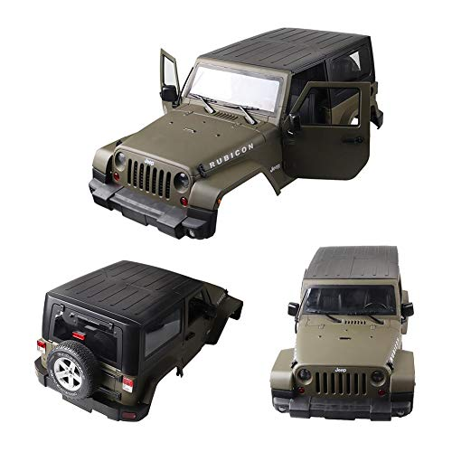 Luerme RC Car Body Shell, 1: 10 RC Scale Truck Hartplastik Karosserie Shell Cover für Wrangler Jeep Matte - Rc Scale 1 Auto 15