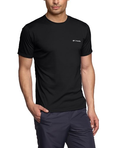 Columbia Herren Kurzarm T-shirt, ZERO RULES SHORT SLEEVE SHIRT, Schwarz (Black), XL -