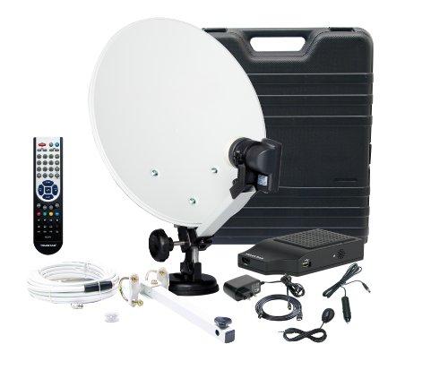 Telestar Camping-SAT-HD-Anlage mit Telemini HD-L (35cm Spiegel, Single-HC-LNB,HD Receiver, Antennenkabel, Kompass) schwarz