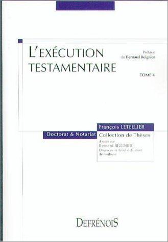 L'exécution testamentaire par François Letellier