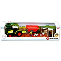 Starlux - Coffret Tracteur Claas Celtis 456 avec Remorque, moutons et nombreux accessoires - Gamme Ferme - 1:32e