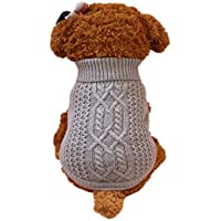 RETUROM Ropa para Mascotas Suéter cálido de Moda para Perros pequeños