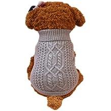Ropa para mascotas ,RETUROM Suéter cálido de moda para perros pequeños