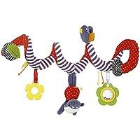 Cute Animal Developmental Toy Bed Bells Sonajero Juguetes blandos para bebé (como se muestra en las fotos) 1PC