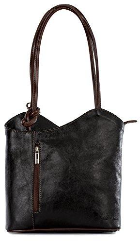 80fc346df207c LiaTalia Damen großartige weiche italienische Leder Piping Detail Schulter  oder Rucksack Tasche mit Schutztasche - Libby