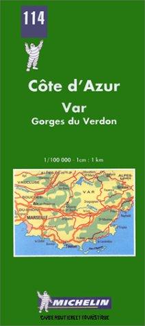 Carte routière : Côte d'Azur - Var, N° 114
