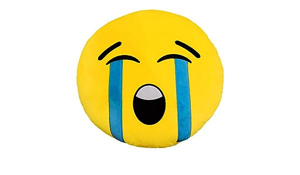557317a Coussin Decoratif Emoticone Motif Tete Qui Pleure 34 Cm O Amazon Fr Cuisine Maison