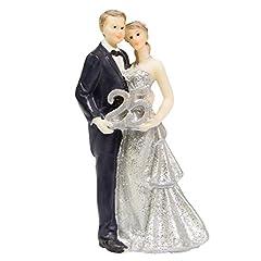 Idea Regalo - Folat 65121, Decorazione torta nuziale - coppia di sposi - nozze d´argento - 25 anni