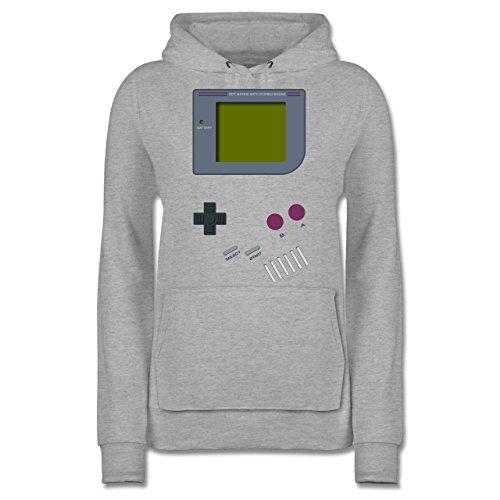 Shirtracer Nerds & Geeks - Gameboy - L - Grau meliert - JH001F - Damen Hoodie