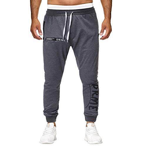 WQIANGHZI Herren Jogging-Hose, Trainingshose Sport-Hose Fitnesshose Freizeit-Hose Sweatpants - Fleece-jersey-trainingshose