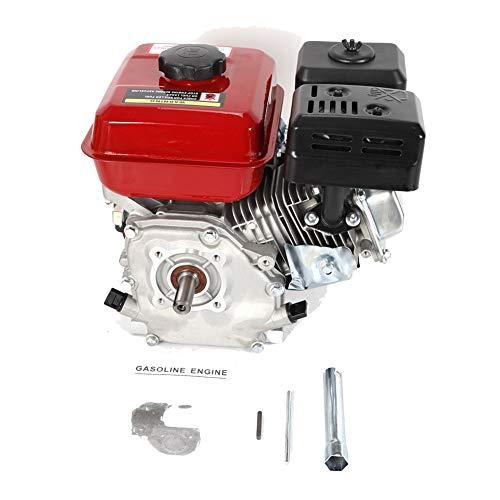 YIYIBY 7.0 PS - Motore a benzina da 5,1 kW, motore a benzina, motore a benzina, 4 tempi, 1 cilindro (tipo: cilindro inclinato a 25°, 4 tempi, OHV, onda orizzontale, raffreddamento ad aria forato)