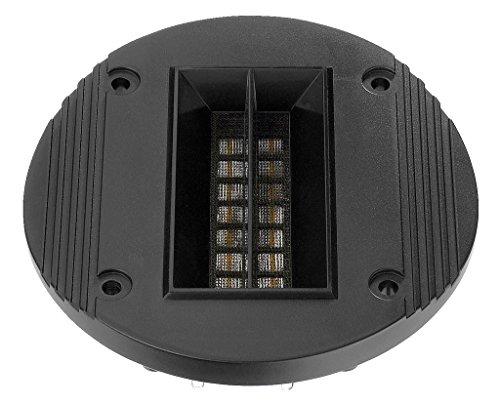 MONACOR RBT-95 Bändchen-Hochtöner, Ribbon-Speaker für eine luftige und verzerrungsarme Wiedergabe, Audio-Verstärker für den Selbst-Einbau in EIN Boxen-Gehäuse, in Schwarz