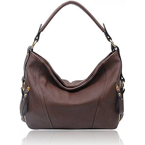 LeahWard Donna Stilista di moda Grande Hobo Borsa ConStrap Qualità Trendy ECOPELLE Borse a tracolla borsetta CWS00448 CW1248 CW785 CWB011627