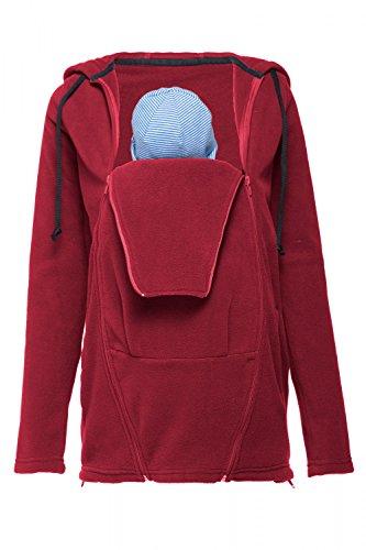 Happy Mama. Damen Fleece Umstands-Kapuzenpullover Herausnehmbaren Einsatz. 498p Purpur