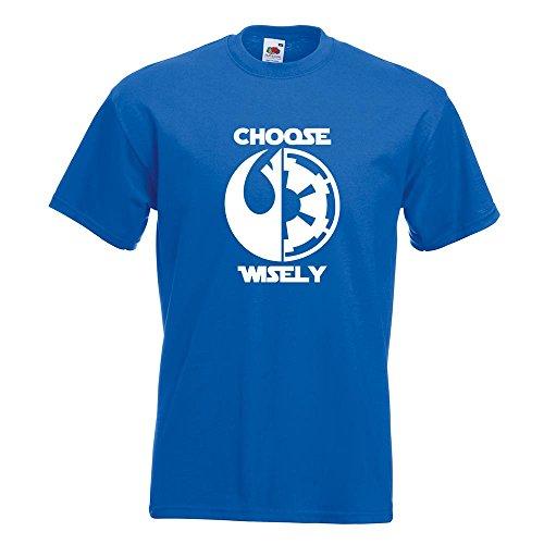 KIWISTAR - choose wisely T-Shirt in 15 verschiedenen Farben - Herren Funshirt bedruckt Design Sprüche Spruch Motive Oberteil Baumwolle Print Größe S M L XL XXL Royal