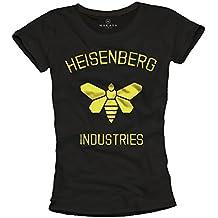 Heisenberg Industries - Camiseta negra mujer