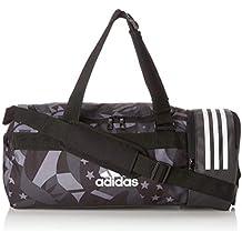 adidas Convertible 3 Stripes Duffel Bag S Womens Graphic, Unisex Adulto, Black White,