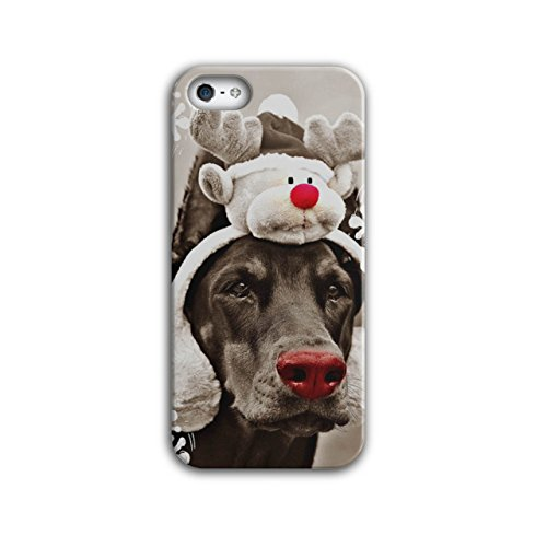 Komisch Hund Hirsch Weihnachten Rentier iPhone 5 / 5S Hülle   Wellcoda (Heilige Hund Kostüm)