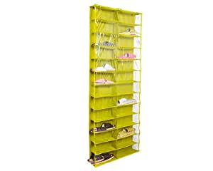 26 taschen zusammenklappbar hakenleiste schuhe organizer schuhregal closet organizer system zum. Black Bedroom Furniture Sets. Home Design Ideas