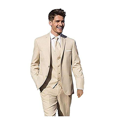 im Fit Zwei Knöpfe 3-teilige Anzug Blazer Kleid Business Hochzeit Jacke Weste & Hose ()