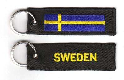 Schlüsselanhänger Schweden Anhänger Fahne Flagge NEU