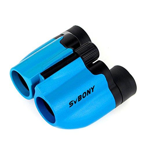 SVBONY 8x21 Prismáticos Niños Ultra Compacto Multi Coated-Green Regalo para Niños Juguete Portátil de Bolsillo (Azul)