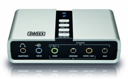 Sweex SC016 - Tarjeta de sonido externa, gris