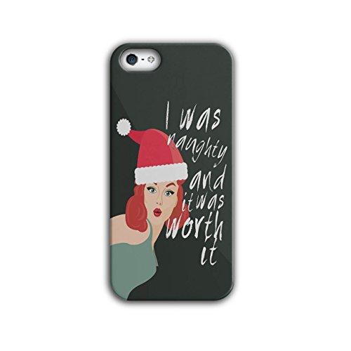 Frech Mädchen Weihnachten Sein Schlecht iPhone 5 / 5S Hülle | (Kostüm Mädchen Für Chinesischen Nationalen)