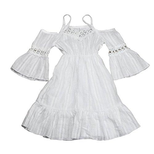 JERFER Mode Mädchen Hochzeit Pageant Spitze Prinzessin Kleid - Amazonas Prinzessin Kostüm