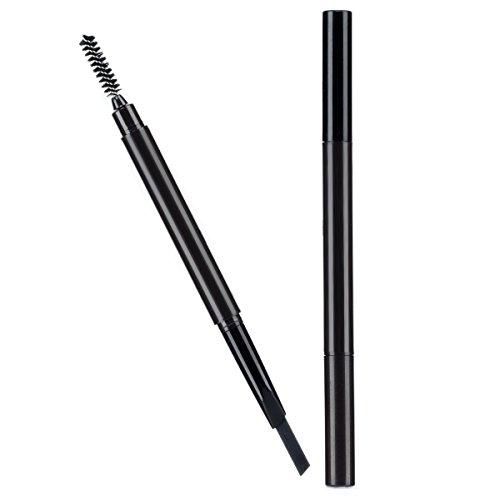 Brauenstifte Automatisch Wasserdicht Gedrehte Make Up Stift Eyeline Augenbrauenstift + Pinsel (Schwarz 1#)