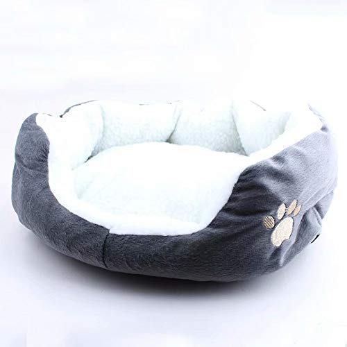 Bobopai Lovely Round or Oval Shape Dimple Soft Cashmere Pet Nest Dog Cat Bed (#4)
