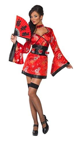 Halloween Kostüme Kimono (Smiffy\'s 20559 Vodka Geisha Kostüm Kimono Gr.)