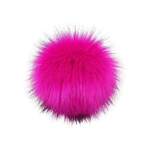 Ostern beste Geschenke !!! Beisoug DIY Strickmützen Zubehör-Faux Gefälschte Fleece Pom Pom Waschbär Haar Ball mit Druckknopf (10 cm)