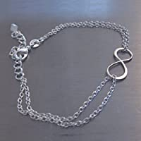 Sterling Silber Armband Infinity