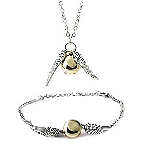 Naisidier collana per donne mum harry potter boccino d' oro collana e braccialetto setbirthday christmas anniversary