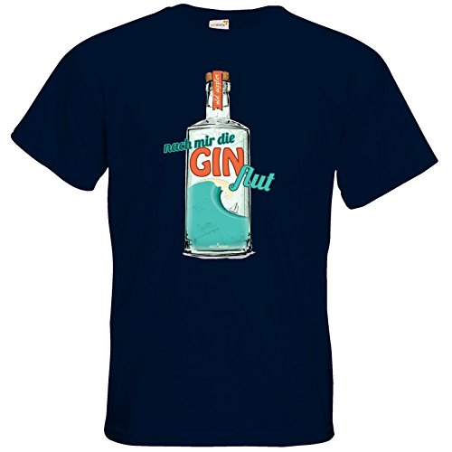 getshirts - SizzleBrothers Merchandise Shop - T-Shirt - SizzleBrothers - Grillen - Gin - Ginflut Navy