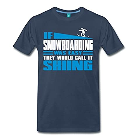 Snowboarding Men's Premium T-Shirt by Spreadshirt®‎, L,