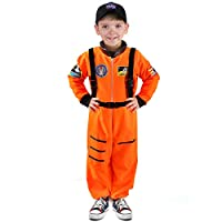 Tacobear Astronaut Costume for Kids Spaceman Role Play Costume Astronaut Jumpsuit Fancy Dress for Children Boys Girls with NASA Cap