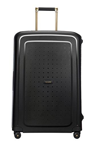 SAMSONITE S\'Cure DLX Spinner, 4.5 KG Koffer, 75 cm, 102 L, Black/Gold Deluscious
