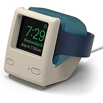 elago W4 support vintage 1998 – [] [Prend en charge le mode Table de nuit] [Gestion de câble] – pour l'Apple Watch Série 1 et 2