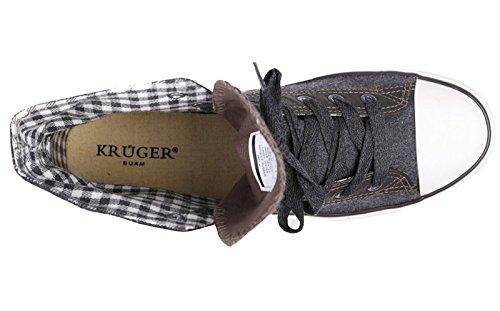 Krüger Madl Herren Trachten Sneaker Hunter grau Gr.40 - 3