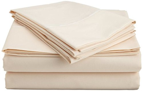 Egyptian Cotton Factory Store Luxurious Seven (7) Piece Set, Cream Solid / Plain, King Size, 4Pc Bed Sheet Set & 3Pc Duvet Set, 1000 Thread Count Ultra Soft Single-Ply 100% Egyptian Cotton, 1000Tc Sheet & Duvet Set Includes Two (2) Shams & Two (2) Pillow Cases