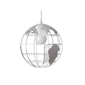 Wings of wind – Moderna lámpara de techo de la lámpara E27 Mapa Mundial Colgante colorido pantalla de cristal